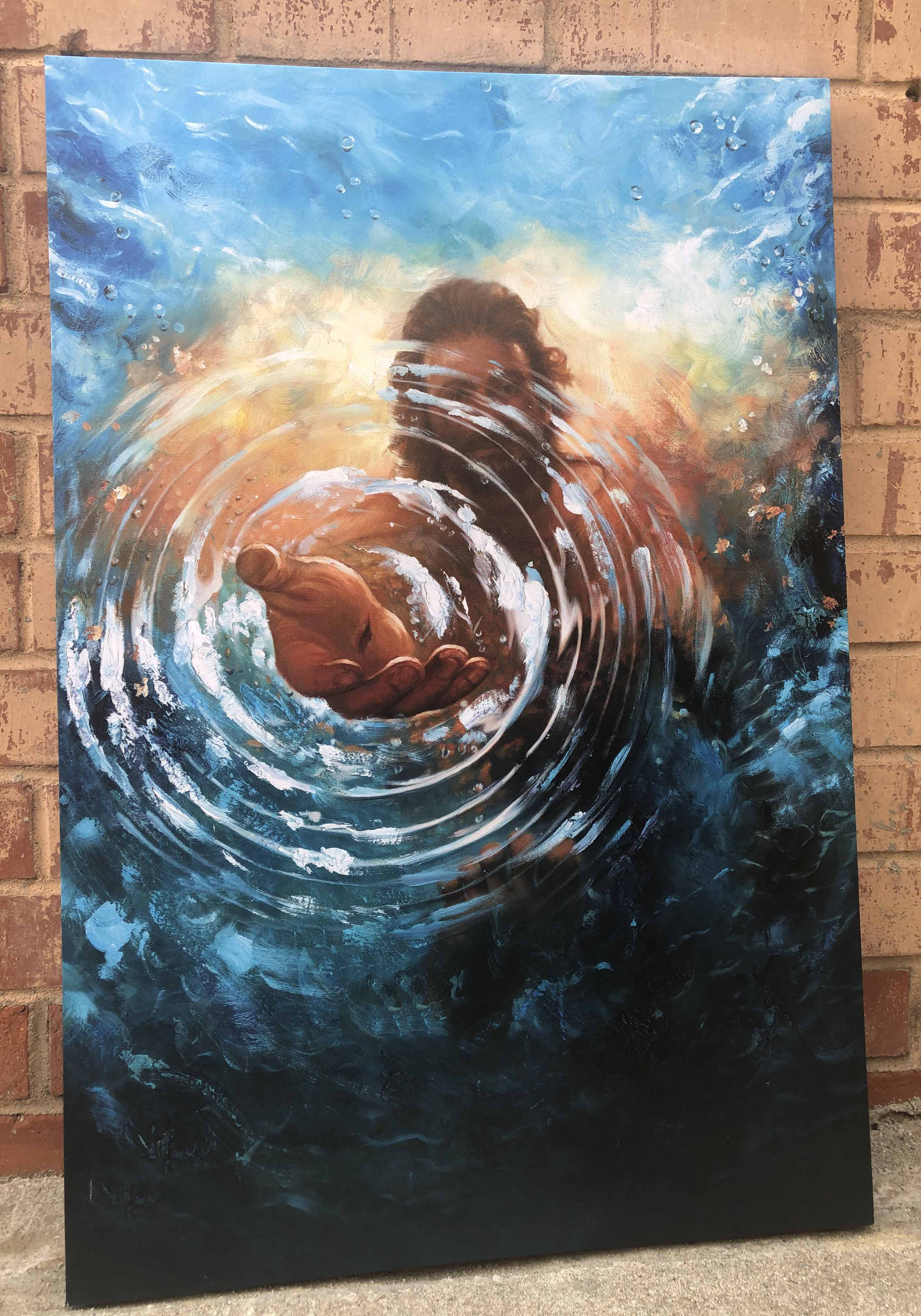 Jesus Water Painting photo review