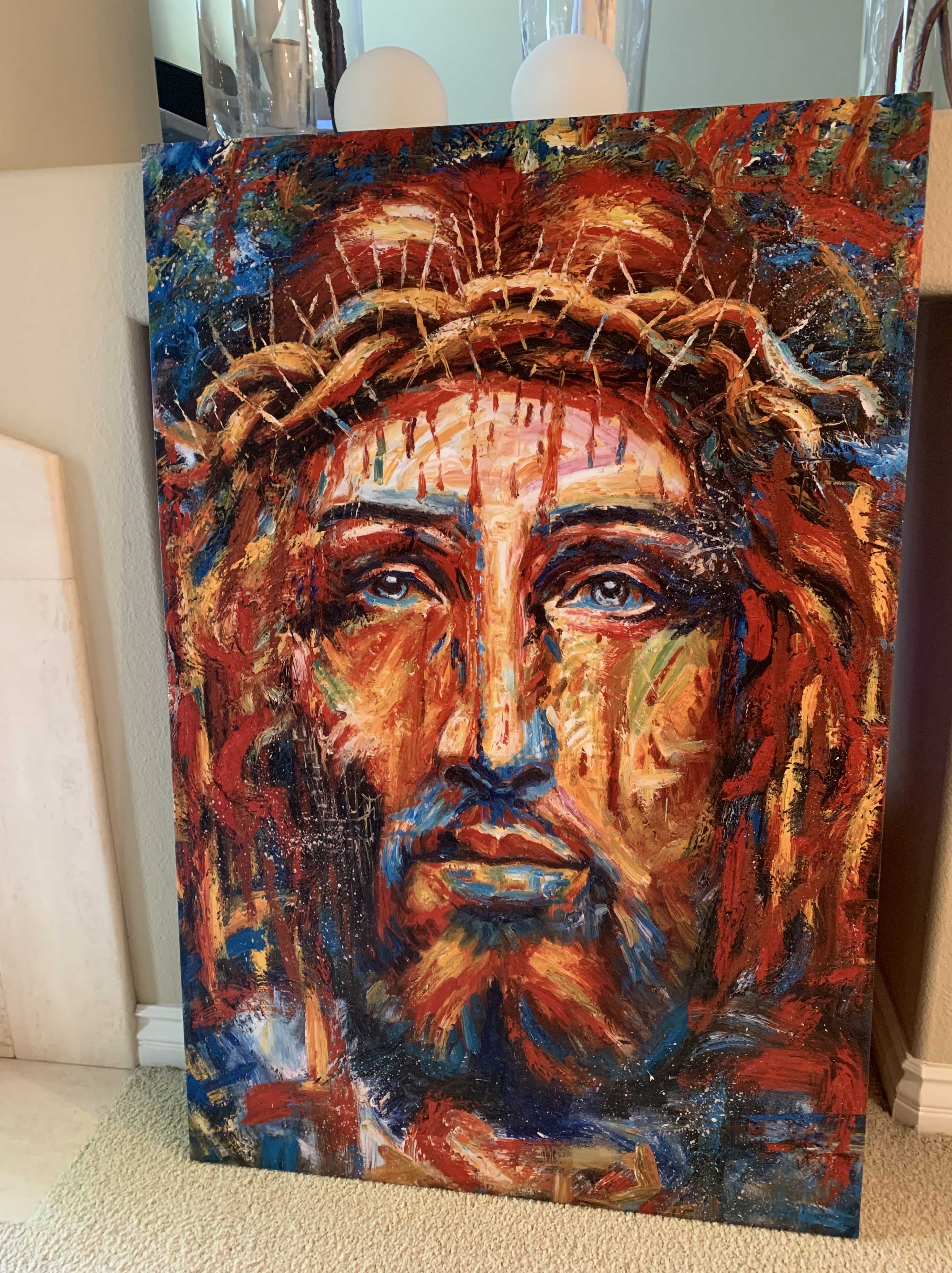 Colorful Jesus Abstract photo review
